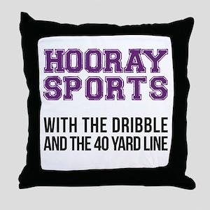 Hooray Sports [Purple] - With The Dri Throw Pillow